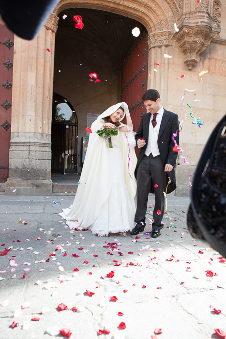 Fotografía de boda en Salamanca, Sala de Claustros de la Universidad de Salamanca