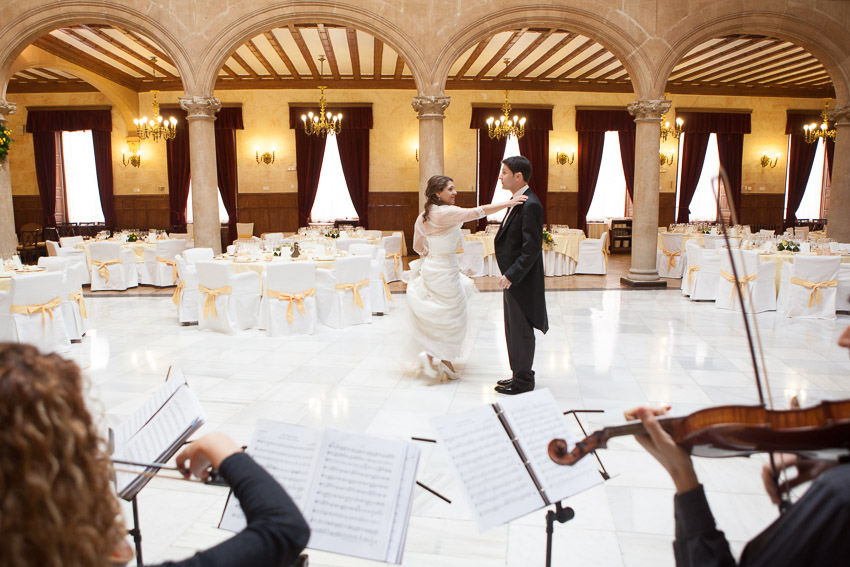 Fotografía de boda en Salamanca, Palacio de Figueroa, Casino, Hoteles Regio, Cuarteto Haffner