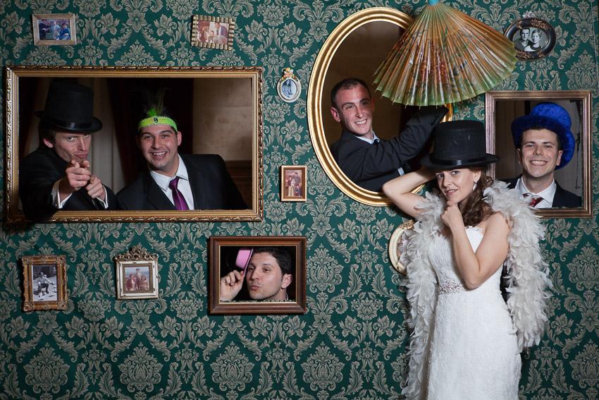 Fotografía de boda en Salamanca, photocall